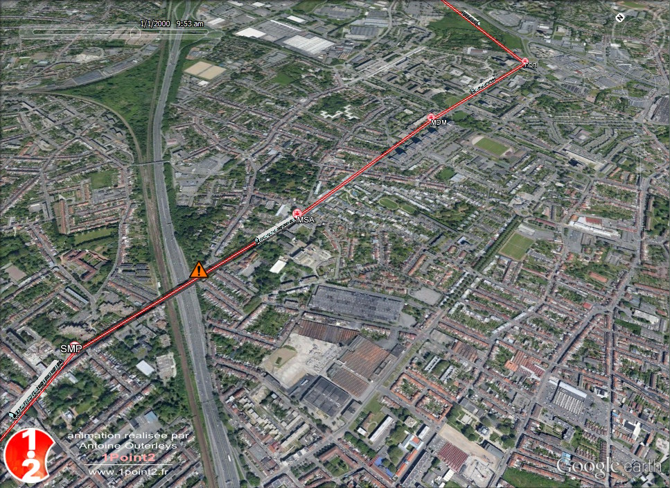 Simulation sous Google Earth