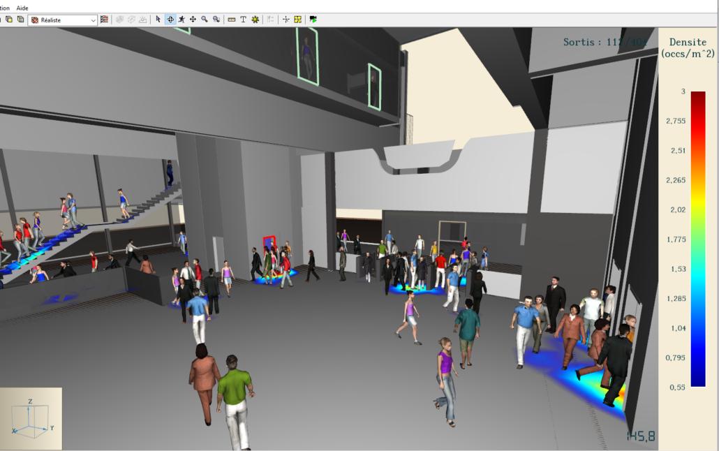 Modèle de simulation station de métro